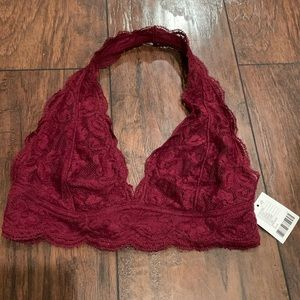 Urban outfitters halter lace bralette in wine